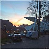SK5838 : Sunset over Trent Bridge Cricket Ground by John Sutton