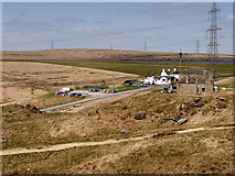 SD9617 : The White House and Blackstone Edge Reservoir from the Pennine Way by David Dixon