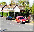ST3090 : Royal Mail collection from a Malpas pillarbox, Newport by Jaggery
