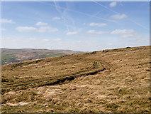 SD9617 : Broad Head Drain, Blackstone Edge Moor by David Dixon