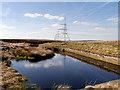 SD9717 : Rishworth Drain Catch Basin, Rishworth Moor by David Dixon