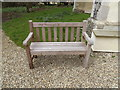 TM1750 : Seat in St.Mary's Churchyard by Adrian Cable