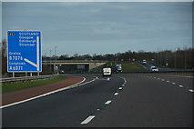 NY3366 : City of Carlisle : The M6 Motorway by Lewis Clarke
