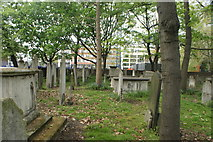 TQ3282 : View of graves in Bunhill Fields #2 by Robert Lamb