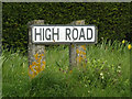 TM1852 : High Road sign by Adrian Cable