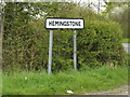 TM1653 : Hemingstone Village Name sign on Clay Lane by Adrian Cable