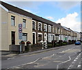 SS7597 : Row of houses of the west side of Eastland Road, Neath by Jaggery