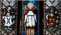 SK3463 : Ashover: All Saints Church: Stained glass window 2 by Michael Garlick