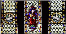 SK3463 : Ashover: All Saints Church: Stained glass window 3 by Michael Garlick