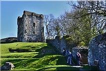SK1482 : Peveril Castle, Castleton: Henry II's keep (1170) by Michael Garlick