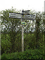 TM1451 : Roadsign on Church Lane by Adrian Cable