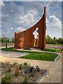 SD5525 : New War Memorial and Peace Garden by David Dixon