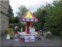 SD9772 : Magic Roundabout Scarecrows, Kettlewell by Graham Robson