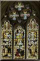 TA1807 : East window, St Edmund's church, Riby by Julian P Guffogg