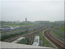 TQ3884 : Railway junctions in the Olympic Park by Christopher Hilton
