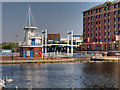 SJ8097 : Welland Lock and Operations Tower, Salford Quays by David Dixon