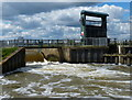 TL0792 : Spillway at Warmington Lock on the River Nene by Mat Fascione