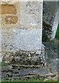 SK8101 : Bench mark, St Peter's Church, Belton-in-Rutland by Alan Murray-Rust