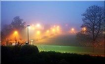 SX9065 : Lights in the mist, Torquay Academy by Derek Harper