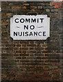 TQ3279 : Warning sign, Doyce Street, London SE1 by Jim Osley
