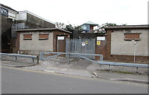SS7597 : Commercial Street Primary Electricity Substation, Neath by Jaggery