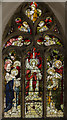 SK9389 : Stained glass window, St Chad's church, Harpswell by Julian P Guffogg