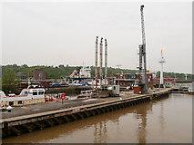 SJ3681 : Manchester Ship Canal, Eastham Lock by David Dixon