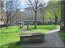 NZ2464 : The churchyard of the Church of St. John the Baptist, Grainger Street, NE1 by Mike Quinn