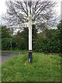 TQ7575 : Finger Post, Main Road, Cooling by Chris Whippet
