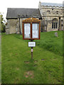 TM0753 : St.Mary's Church Notice Board by Adrian Cable
