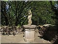 NY6819 : Appleby Castle: stone sculpture by Stephen Craven