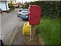 TM0758 : The Lane Postbox & Grit Bin by Adrian Cable