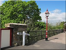 NY6820 : Gradient marker at Appleby station  by Stephen Craven