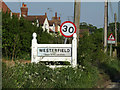 TM1647 : Westerfield Village Name sign on Lower Road by Adrian Cable