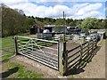 NY9252 : Animal pen, Burntshield Haugh Farm by Oliver Dixon