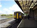 SM9703 : A train for Swansea stands in Pembroke Dock station by John Lucas