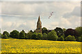 SK9480 : Red Arrows over Aisthorpe by Richard Croft
