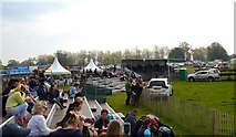 ST8083 : Badminton Horse Trials 2016: spectators at the lake by Jonathan Hutchins