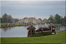 ST8083 : Badminton Horse Trials 2016: fence into the lake by Jonathan Hutchins