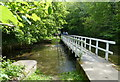 SK5281 : Footbridge along the Chesterfield Canal by Mat Fascione