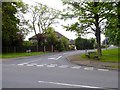 SJ7955 : Alsager: Sandbach Road North junction with The Fairway by Jonathan Hutchins