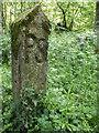 TQ2896 : Marker Post in Trent Park, Cockfosters, Hertfordshire by Christine Matthews