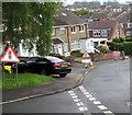 ST3090 : Warning sign - temporary traffic lights ahead, Laurel Crescent, Malpas, Newport by Jaggery