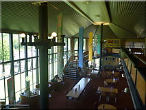 NN9357 : Perthshire Architecture : Interior Of The Cafe/Bar At Pitlochry Festival Theatre by Richard West