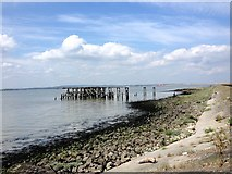 TQ7178 : Ruined Jetty by Chris Whippet