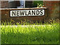 TM2156 : Newlands sign by Adrian Cable