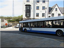 SS7597 : X63 bus to Ystradgynlais in Neath by Jaggery