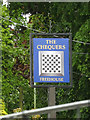 TM1150 : The Chequers Public House sign by Adrian Cable