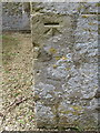 SP6407 : Bench mark on St Nicholas' church tower, Ickford by John S Turner