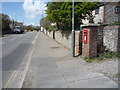 TG3533 : George VI postbox on the B1159, Bacton by JThomas